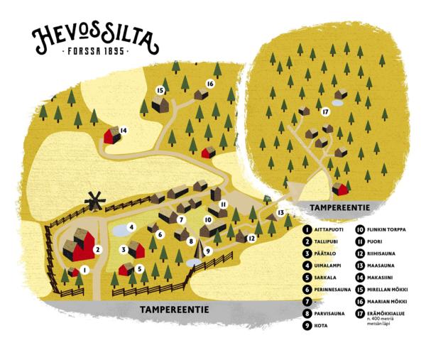 map hevossilta finland